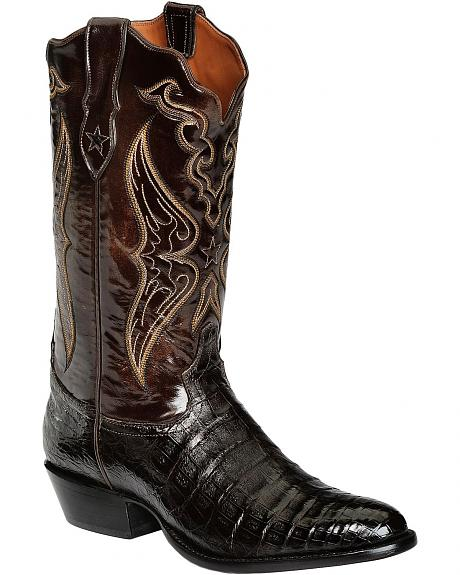 Tony Lama Signature Series Caiman Belly Cowboy Boots - Medium Toe