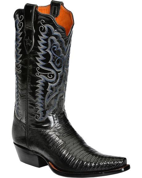 Tony Lama Signature Series Lizard Cowboy Boots - Snip Toe