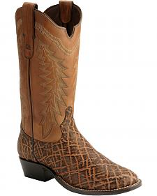 Tony Lama Black Label Elephant Cowboy Boots - Round Toe