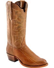 Tony Lama Black Label Smooth Ostrich Leg Cowboy Boots - Round Toe