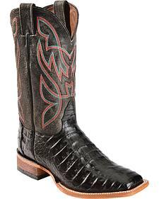 Nocona Caiman Cowboy Boots - Square Toe
