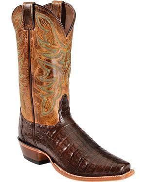 Nocona Caiman Cowboy Boots - Narrow Square Toe