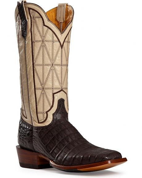 Cinch Classic Caiman Stained Glass Cowboy Boots - Square Toe