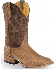 Cinch Classic Caiman Mad Dog Goatskin Cowboy Boots - Square Toe