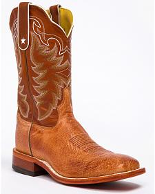 Tony Lama San Saba Vintage Smooth Quill Ostrich Cowboy Boots - Square Toe