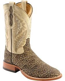 Tony Lama Vintage Elephant Cowboy Boots - Round Toe