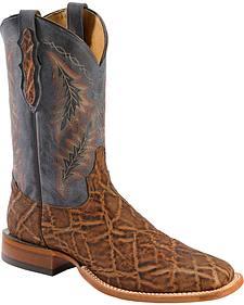 Tony Lama Vintage Elephant Cowboy Boots -  Square Toe