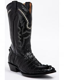 Ferrini Caiman Tail Cowboy Boots - Round Toe