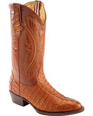 Ferrini Caiman Tail Crocodile Cowboy Boots - Round Toe
