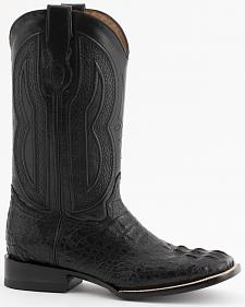 Ferrini Caimain Tail Cowboy Boots - Wide Square Toe