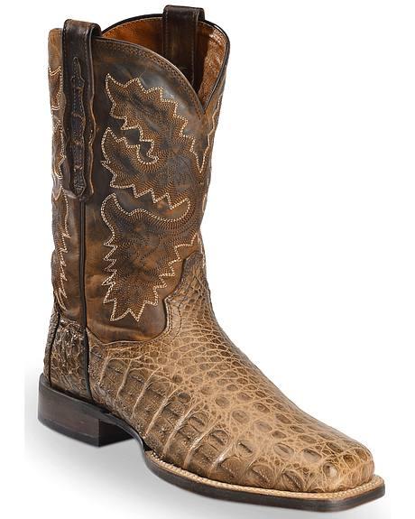 Dan Post Denver Bay Apache Flank Caiman Cowboy Boots - Square Toe