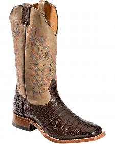 Boulet Caiman Belly Cowboy Boots - Square Toe