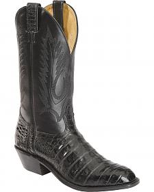 Boulet Caiman Belly Cowboy Boots - Round Toe