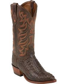 Tony Lama Vintage Hornback Caiman Cowboy Boots - Medium Toe