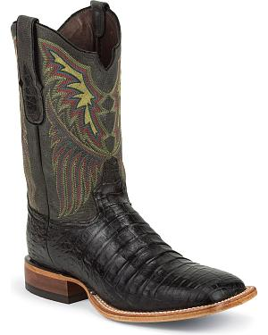 Tony Lama Vintage Caiman Belly Cowboy Boots - Square Toe