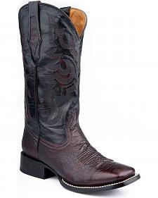 Roper Smooth Quill Ostrich Cowboy Boots - Square Toe