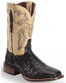 Dan Post Denver Caiman Cowboy Boots - Wide Square Toe