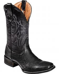 Circle G By Corral Smooth Quill Ostrich Cowboy Boots - Square Toe