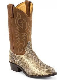 Tony Lama Rattlesnake Cowboy Boots - Round Toe