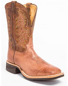 Tony Lama Smooth Quill Ostrich Cowboy Boots - Wide Square Toe