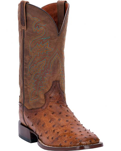 dan post chandler quill ostrich cowboy boots square