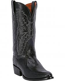 Dan Post Teju Lizard Cowboy Boots - Round Toe