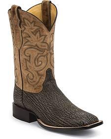 Justin Men's AQHA Remuda Shark Cowboy Boots - Square Toe