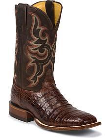 Justin Men's AQHA Remuda Caiman Cowboy Boots - Square Toe