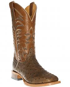 Cinch Men's Full Quill Ostrich Western Boots - Square Toe