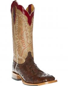 Cinch Men's Full Quill Ostrich Tall Western Boots - Square Toe