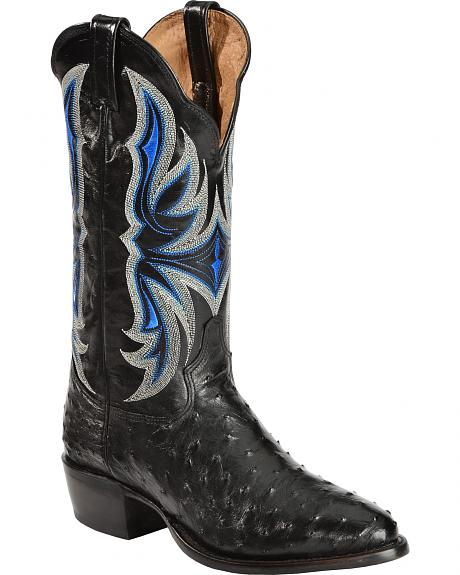 Sheplers Exclusive - Tony Lama Men's Full Quill Ostrich Western Boots - Medium Toe