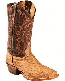 Sheplers' Exclusive - Tony Lama Full-Quill Ostrich Cowboy Boots - Square Toe