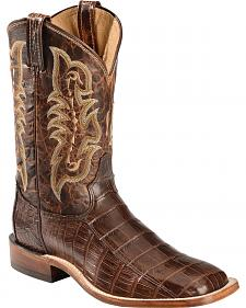 Sheplers Exclusive - Tony Lama Men's Croc Belly Western Boots - Square Toe
