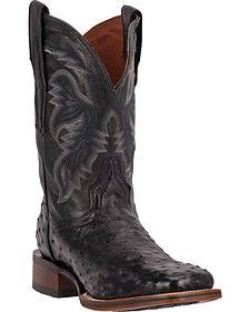 Dan Post Men's Alamosa Full Quill Ostrich Western Boots - Square Toe