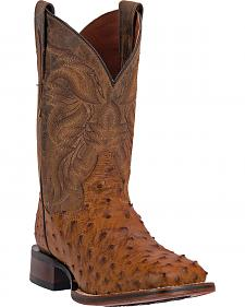Dan Post Men's Alamosa Full Quill Ostrich Western Boots - Square Toe
