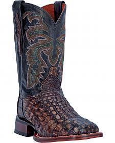 Dan Post Copper Everglades Caiman Cowboy Boots - Square Toe