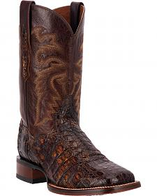 Dan Post Sunset Brown Everglades Caiman Cowboy Boots - Square Toe