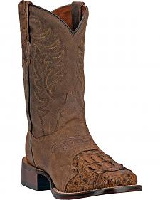 Dan Post Men's Cowboy Certified Caiman Western Boots - Square Toe