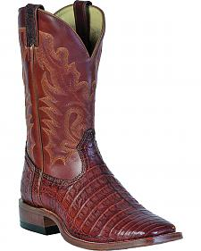 Boulet Peanut Caiman Belly Boots - Square Toe