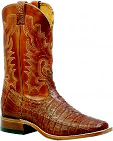 Boulet Barnwood 3-Piece Caiman Belly Boots - Square Toe