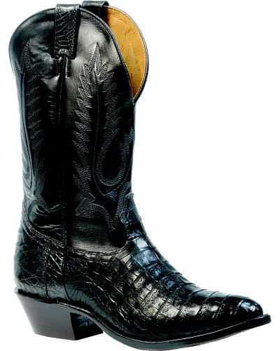 Boulet Black Caiman Belly Boots - Medium Toe $809.99 AT vintagedancer.com
