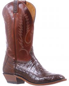 Boulet 3-Piece Chocolate Caiman Belly Cowboy Boots