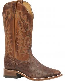 Boulet Antique Saddle Ostrich Boots - Square Toe