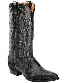 Dan Post Raleigh Black Lizard Cowboy Boots - Round Toe