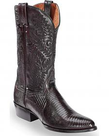 Dan Post Raleigh Cherry Lizard Cowboy Boots - Round Toe