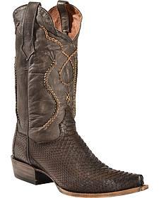 Dan Post Okeechobee Python Cowboy Boots - Snip Toe
