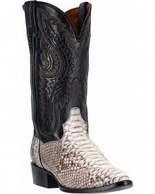 Dan Post Natural Omaha Python Cowboy Boots - Square Toe