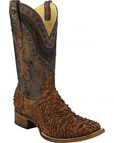Corral Gnarly Sea Bass Cowboy Boots - Square Toe