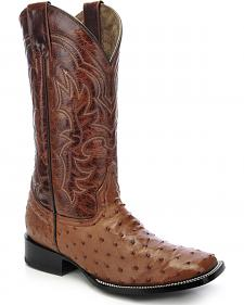 Circle G Full Quill Ostrich Cowboy Boots - Square Toe