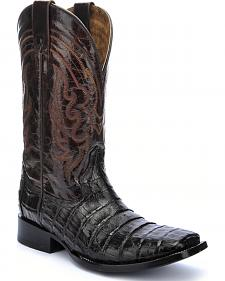 Circle G Caiman Belly Cowboy Boots - Square Toe